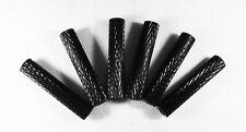 25mm Black Aluminum Textured Spacers (set of 6)