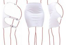 Spanking Skirt Flogging Rosy Cheeks Bondage Submissive Fetish Club Outfit -White