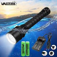 Underwater 100M Depth Diving Flashlight 10000LM 3xXML T6 LED Scuba Light Torch K