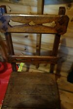 Antique arts & crafts style Oak Metamorphic Library Chair /Steps / Ladder /