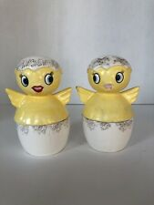 Vintage Holt Howard Baby Chick Egg Cup W/Salt And Pepper Shakers