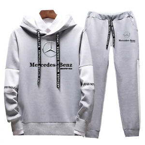 Mercedes-Benz-Man's Fashion Printed Long-Sleeved Hoodie Casual Sweater Coat Suit