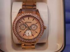 NWT - Woman's Fossil Stella Mult-ifunction Watch - Rose
