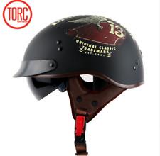 TORC Motorcycle Helmet T55 Harley Retro Half Face Inner Sun Visor M Tank Luck 13