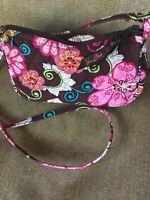 Vera Bradley Mod Floral Pink Small Crossbody Shoulder Bag EUC 8x5