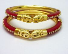 Indian Bollywood Traditional Ethnic Red Pola Fashion Jewelley Bracelets 2.8
