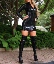 Latex Rubber Women Dress Gummi 0.4mm Slim Club Wear Vestidos Unique Party New