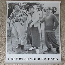 THE THREE STOOGES GOLF WITH YOUR FRIENDS MINT ROLLED POSTER LARRY CURLY MOE