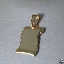 Piastrina  Medaglietta Oro Giallo 18 Kt Ciondolo Oro 750