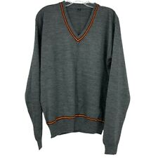 Harry Potter XL Grey Gryffindor House V-Neck Pullover Sweater Wizard Costume