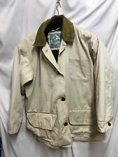 NORTH BAY Mens Bomber Field Jacket L Beige Button Out Quilted Lining  MSRP $135