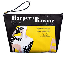 Estee Lauder Harpers Bazaar Black Small Cosmetic Toiletry Makeup Gift Bag New