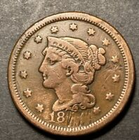 Braided Hair Large Cent 1c Nice Details Collectible Type Coin Damaged