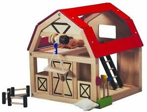 Plan Toys Bauernhaus Scheune Bauernhof Stall aus Holz