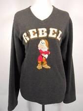 Warm Women's Large Disney Rebel Grumpy Dwarf Gray LS Pullover Sweatshirt GUC