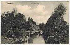Bridge, Pond at Ujazdowski Park, Warsaw/Warszawa, Poland, 1910s