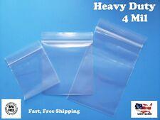 Zip Top Plastic Bags Heavy Duty 4mil Clear Reclosable Lock Seal Zipper Baggies