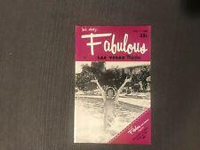 Fabulous Las Vegas Magazine Marcia Rogers Freddie Martell Al Arakelian 5/7/1960