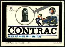Contrac Wipes Out Hoods And Gangsters#21 Wacky Packages 1982 Irish Sticker(C899)