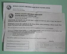 Vintage Ohio Department of Natural Resources Bonus Deer Hunting Permit License