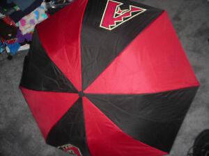 "ARIZONA DIAMONDBACKS RED & BLACK 14"" UMBRELLA"