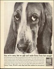 1961-Gaines Gravy Train`Dog Food`Basset Hound-Vintage Ad