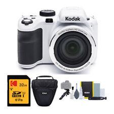 Kodak PIXPRO AZ421 Digital Camera (White) with 32GB SD Card and Accessory Kit