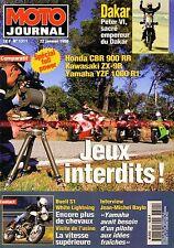 MOTO JOURNAL 1311 HONDA CBR 900 RR KAWASAKI ZX-9 R YAMAHA YZF 1000 BUELL 1200 S1