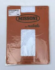 VINTAGE MISSONI BY MALERBA WHITE LACE TIGHTS PANTYHOSE NEW IN PACKAGING SIZE XS