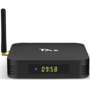 TVBOX PRE-INSTALL MOVIES AND LIVE TV CHANNEL ANDROIDBOX TX6 RAM 4GB ROM 32GB