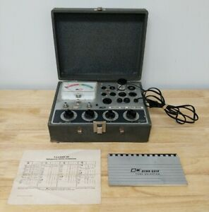 Vintage B&K 600 Dyna-Quik Vacuum Tube Tester With Tube Selecter Booklets Manual