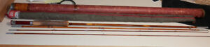 Very Fine Antique South Bend Split Bamboo #346 9 Ft.4 Pc Fly Rod In Original Cas