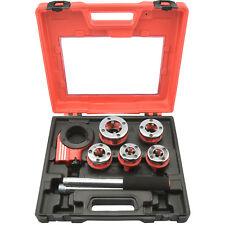 Pipe Threader | 9pc Heavy Duty Ratcheting Die Set for Plumbing DIY Plumber Tool