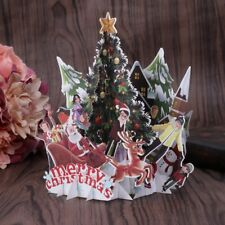 Handmade 3D Pop Up Holiday Greeting Cards Merry Christmas Anniversary Xmas Gift