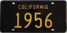 1956 California style novelty license plate, black background!