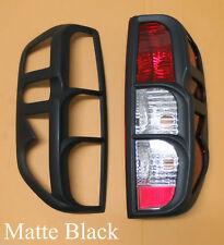 Matte Black Tail Light Cover Trim Fit Nissan Navara Frontier D40 2005 - 12 Pair
