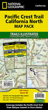 National Geographic TI Pacific Crest Trail CA North Topo Map Guide Bundle Pack