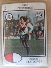 St George Illawarra Dragons Original 1975 Season NRL & Rugby League Trading Cards