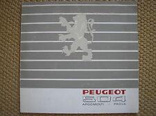 PEUGEOT 504 SALES BROCHURE PROSPEKT ITALIANO 1968 ARGOMENTI PROVA
