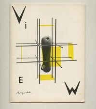 1946 Isamu Noguchi cover design VIEW American Surrealist Journal Chas Henri Ford