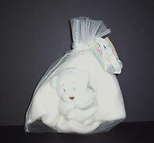 NEW Baby Ganz White Cream Teddy Bear Security Blanket Marshmallow Lovey
