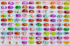 Wholesale Lots jewelry 20pcs Square Resin Lucite Children/Kid Rings 13-16mm FREE
