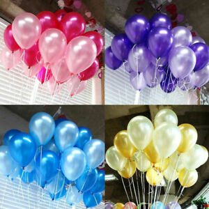 20/ 50/100 PCS Birthday Wedding Baby Shower Party Round Pearl Latex Balloons
