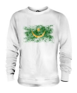 Mauritania Bandiera Effetto Consumato Unisex Maglione Muritan Agawec Mauritanian