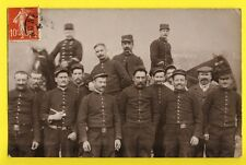 Carte Photo Military French RPPC Ecrite de Grenoble en 1908 MILITAIRES SOLDATS