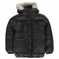 Firetrap Luxury Parka Youngster Boys Puffer Jacket Coat Top Full Length Sleeve