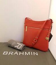 Brahmin NWT Avenue Adjustable Shoulder/Crossbody Coral Nepal Leather