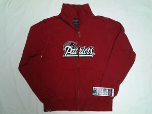 NEW ENGLAND PATRIOTS WOMENS JACKET FULL ZIP FRONT  RED M or L