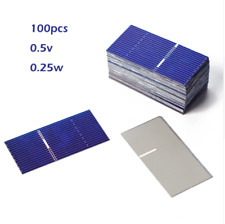 100pcs 0.5V 0.25W Solar Cell High Efficiency Solar Panel Small Battery Charger
