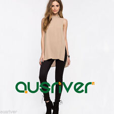Chiffon Casual Sleeveless Tops & Blouses for Women